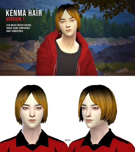 Kenma Kozume Hair Sims 4 Anime The Sims 4 Skin Sims Hair