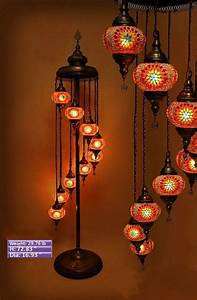 9ball led technology turkish moroccan hanging glass With white mosaic floor lamp