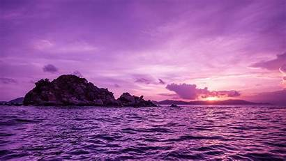 Purple Desktop Nature Sunset Sea Wallpapers Backgrounds