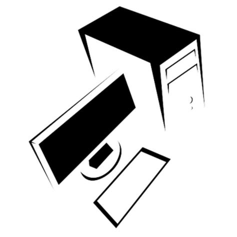 bureau ordinateur noir ordinateur de bureau en noir et blanc télécharger des