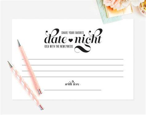 date night idea wedding advice printable