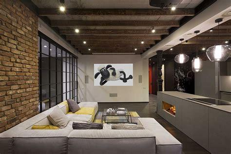High End Bachelor Pad Design: Stunning Loft in Kiev by