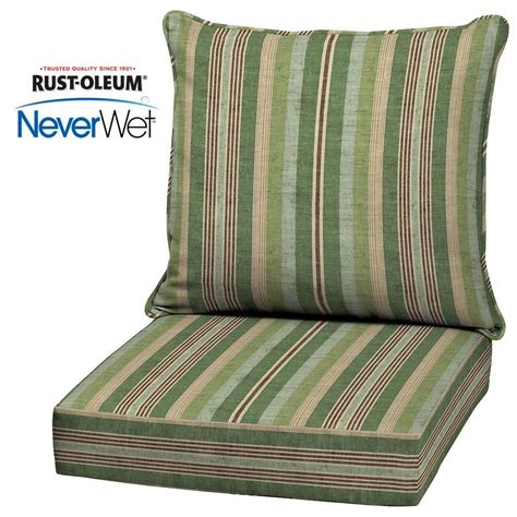 allen and roth patio cushions shop allen roth neverwet 2 stripe green seat