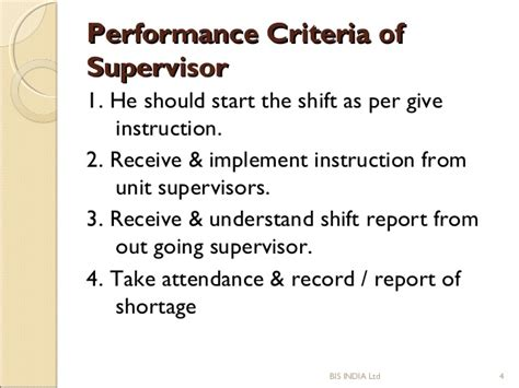 Security Supervisor Skills by Sop Of Security Supervisor