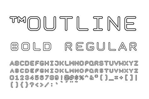 taurus mono outline font family  fonts