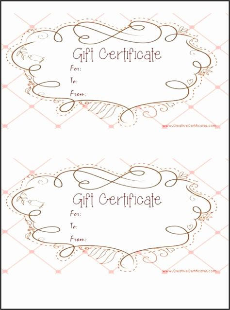 editable gift certificate template sampletemplatess