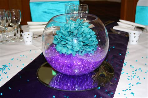 unique teal wedding decorations with image 13 of 24