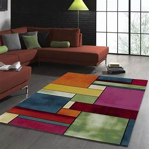 tapis de salon design geometrique belo 11 multicolore With tapis discount moderne