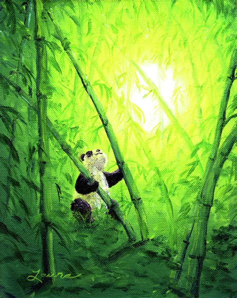bamboo leaves painting  laura iverson