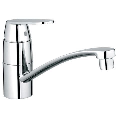 kitchen faucet grohe shop grohe eurosmart starlight chrome 1 handle low arc
