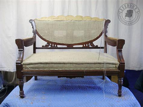 second settees lefebvre s upholstery fully restored eastlake settee