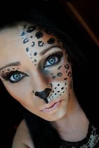 Karneval Schminken Tiere : halloween schminke frauen tiere leoparden h lfte gesicht karneval halloween pinterest make ~ Frokenaadalensverden.com Haus und Dekorationen