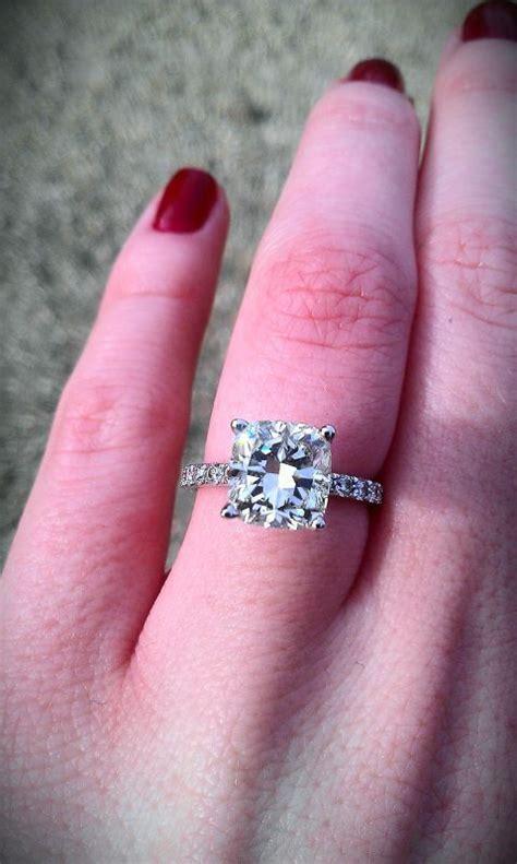 Beautiful 2+ Carat Cushion Cut Engagement Ring  Wedding. Aphrodite Rings. 19k Wedding Rings. Man 2015 Wedding Rings. Wills Engagement Rings