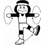 Exercise Clip Clipart Exercising Drawing Exercises Doing