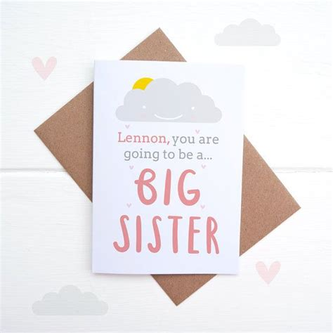 sibling announcement card etsy  baby cards