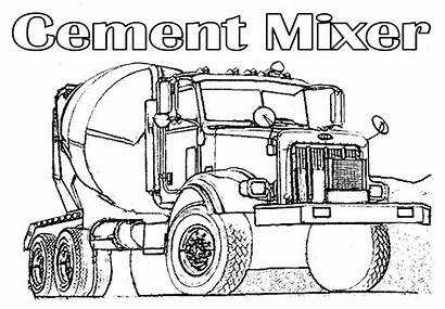 Coloring Cement Truck Mixer Popular