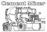 Coloring Truck Printable Semi Cement Monster Trucks Mater Mixer Cars Boys Deere John Mack Clipart Lightning Mcqueen Template Popular Library sketch template