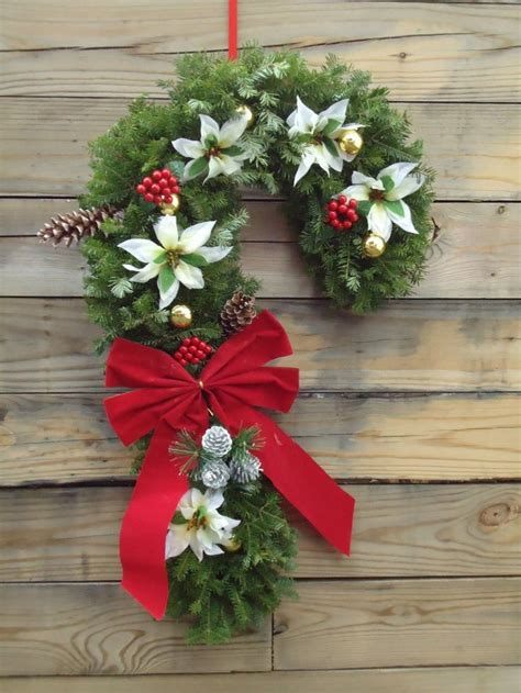 candy cane wreath  style pinterest candy cane