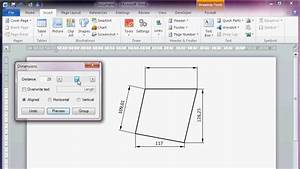 Cad Like Dimensioning In Microsoft Office Word 2010