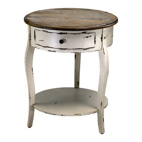 white round accent table wood round accent side table french country distressed