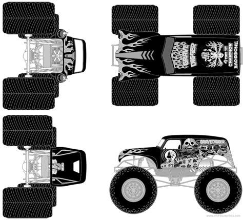 blueprints cars  cars grave digger monster truck