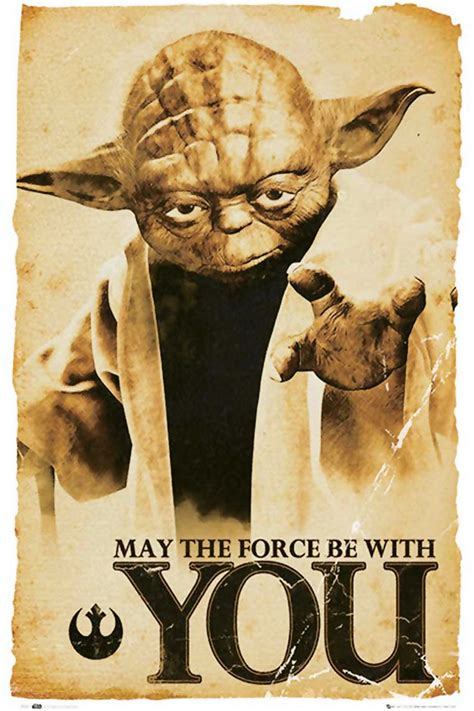 star wars posters jedi yoda poster   force