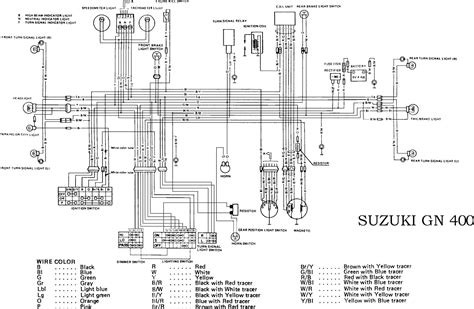Suzuki Motorcycle Complete Electrical Wiring Diagram