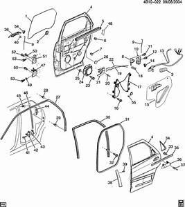 Buick Rendezvous Applique  Rear Side Door Window Reveal