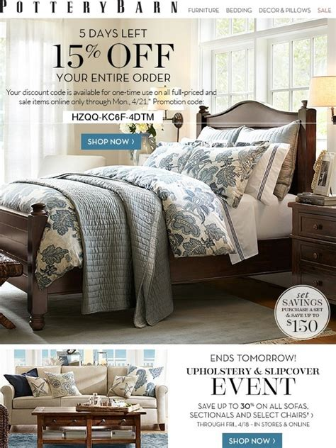 pottery barn orders pottery barn 15 your entire order ends monday milled