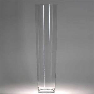 Gros Vase En Verre : vase cylindrique en verre cm brillance ~ Teatrodelosmanantiales.com Idées de Décoration