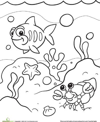 sea coloring page mermaid party coloring