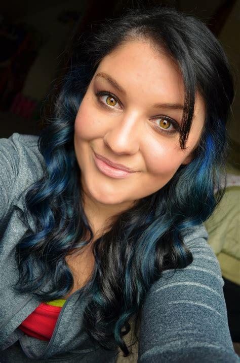 With Black Hair by Blue Highlights On Black Hair Primp Blue