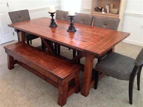 ana white  truss dining room table  bench diy