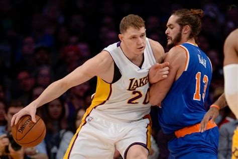lakers luol deng timofey mozgov mindful  criticism