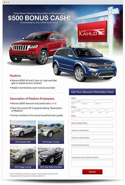 Landing Dealers Pages Creative Example Services Custom