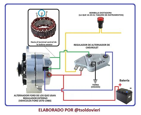 adaptacion de un regulador de alternador chevrolet a un alternador ford 1970 1980 steemit