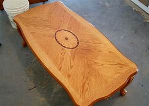 how to refinish a coffee table and remove a bad water With how to stain a coffee table