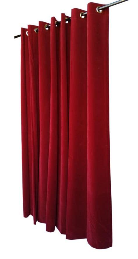 burgundy 182 9cm velvet curtain panel w metal grommet