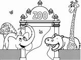 Zoo Coloring Pages Printable Bestcoloringpagesforkids sketch template