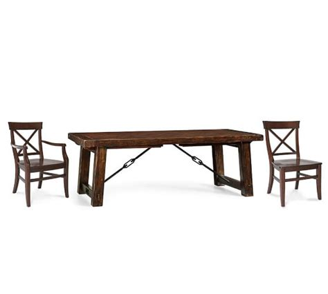 Pottery Barn Aaron Chair Espresso by Benchwright Extending Table Aaron Chair Dining Set