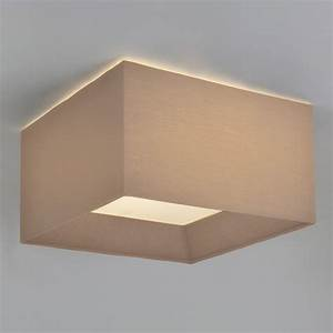 Oyster, Silk, Flush, Ceiling, Light, Square, Fitting, Shade, For, Low, Ceilings