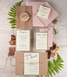 rustic wedding invitation and rsvp 20 real wood wedding With order of wedding invitation suite