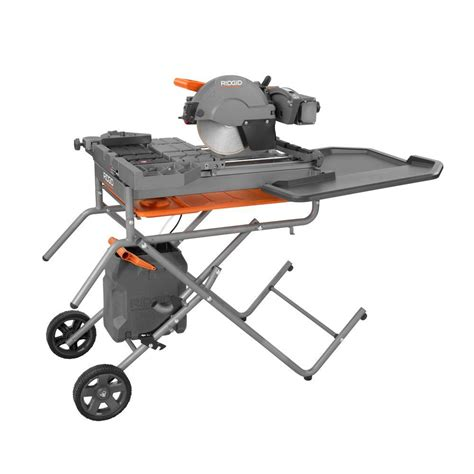 Ridgid Tile Saw Stand by Ridgid 10 In Tile Saw With Stand R4091 The Home Depot