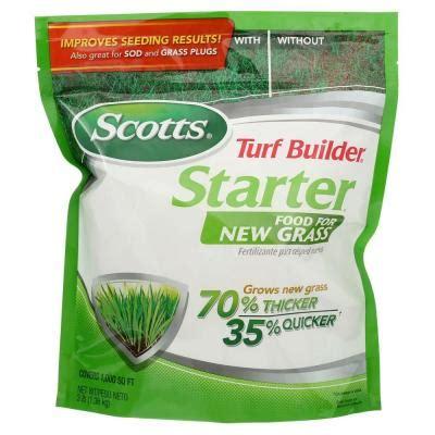 lawn fertilizer brands scotts turf builder 1 000 sq ft starter brand fertilizer 3684