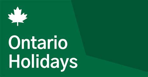 ontario  statutory holidays   canada holidays