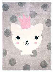 Rosa Grau Teppich : nattiot kinderteppich 39 lola polka 39 grau rosa 120x170cm bei fantasyroom online kaufen ~ Markanthonyermac.com Haus und Dekorationen