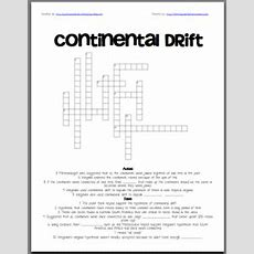 36 Free Resources Continental Drift Crossword