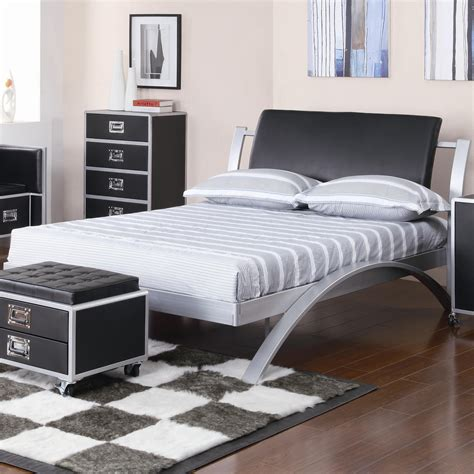 coaster leclair full metal platform bed value city