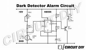 dark detector circuit ldr 555 timer dark sensor With ldr sensor circuit