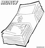 Money Coloring Pages Clipart Clip Bill Pdf Drawings Library Designlooter Colorings sketch template